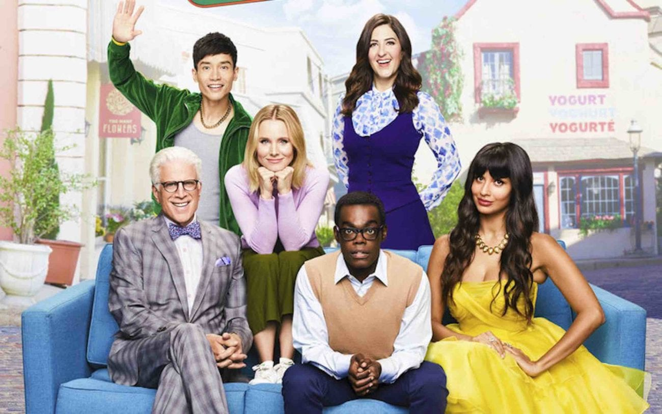 """'The Good Place' is back for season 4, benches! After leaving us in a puddle of tears after """"Pandemonium"""", we're back in the new fake Good Place."""
