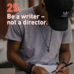 Does your screenwriting include stage direction dictating every possible close-up, aerial shot, mid-shot, deep focus, and handheld shot?