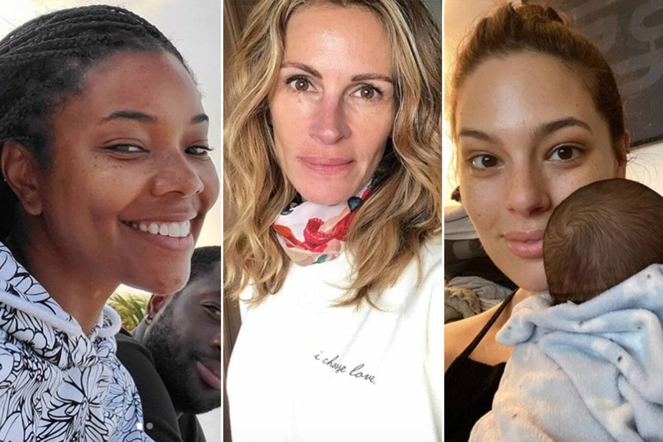 Celebrities, they're just like us. Mainly because their team of stylists and make-up artists aren't available to make them look stunning.