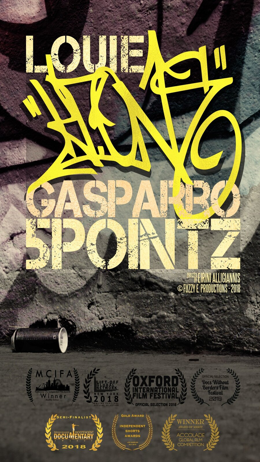 'Louie (KR.ONE) Gasparro 5POINTZ' is an award winning short documentary featuring Louie (KR.ONE) Gasparro. Here's what we know.