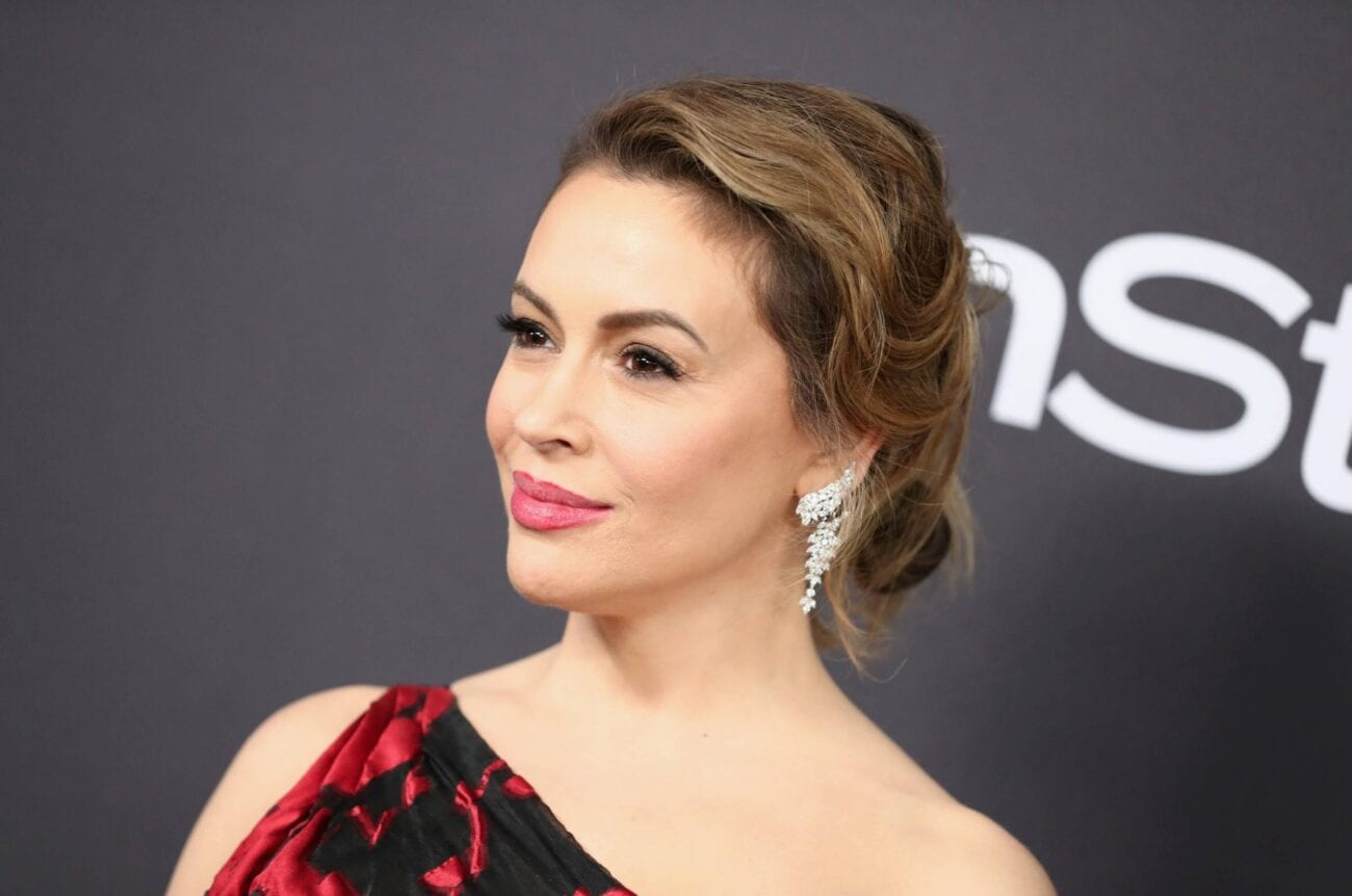 Everyone's a little confused about the story Alyssa Milano has been telling on Twitter; here's what we've been able to figure out.