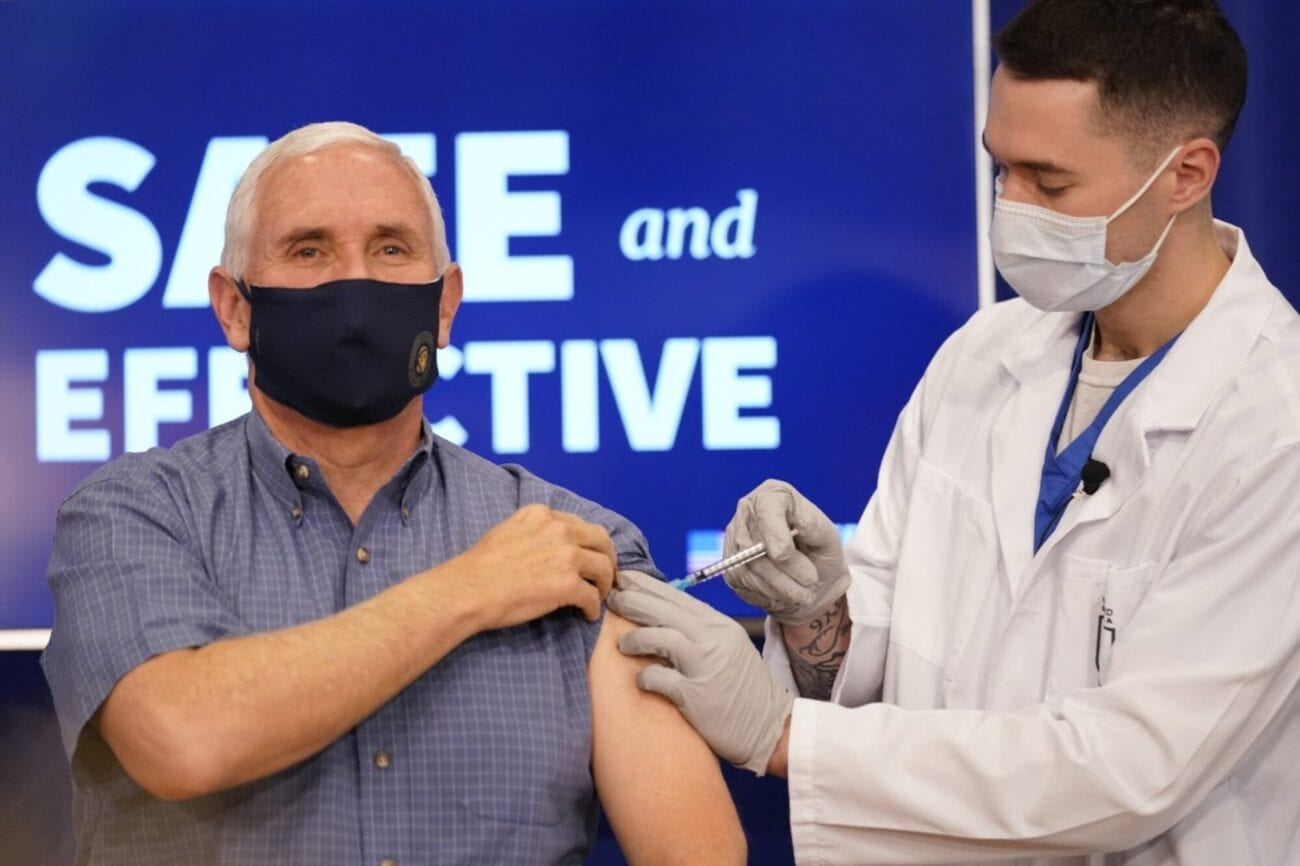 Vice President Mike Pence visited the Eisenhower Executive Office Building and received the COVID-19 vaccine. Here's the latest.