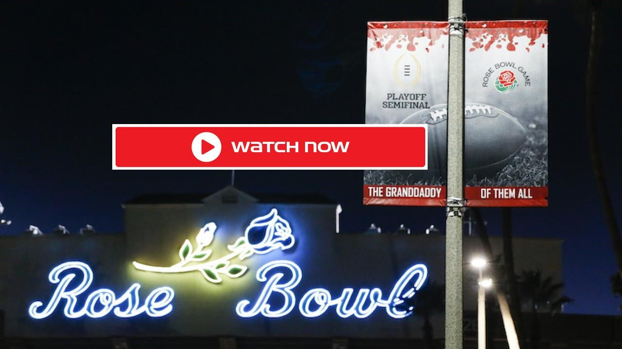 The annual Rose Bowl game is taking place on New Year's Day. Find out how to stream this college football matchup of Alabama vs. Notre Dame.