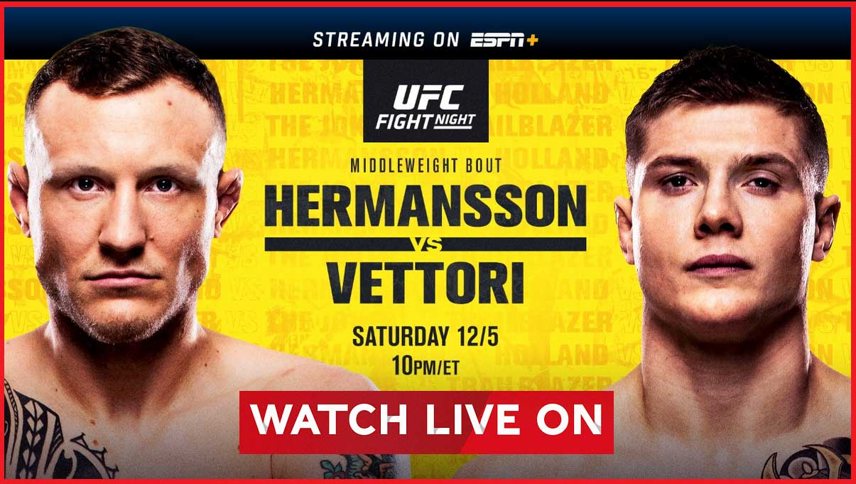 Check out tonight's UFC Fight Night by watching these UFC streams.