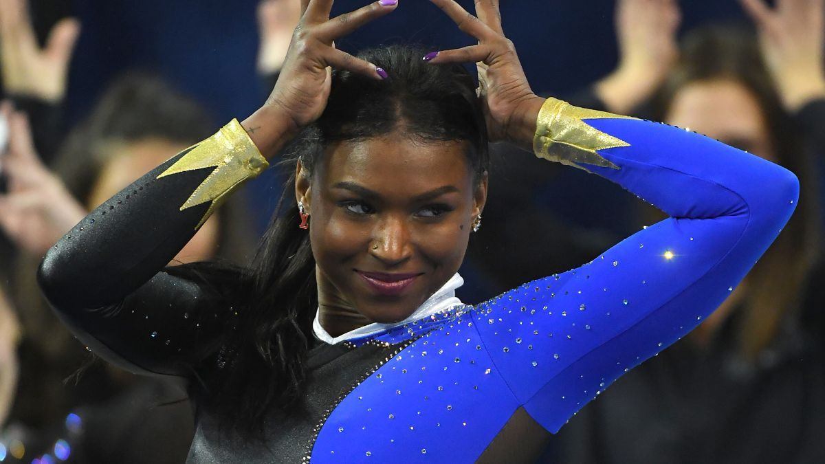 On Saturday, January 23rd, UCLA gymnast Nia Dennis stole the show with her latest dance routine. Watch the gymnastics routine here.