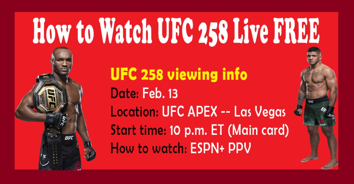 Usman is gearing up to take on Burns in UFC 258. Find out how to live stream the UFC match on Reddit for free.